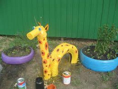 Поделка жирафа для сада 3