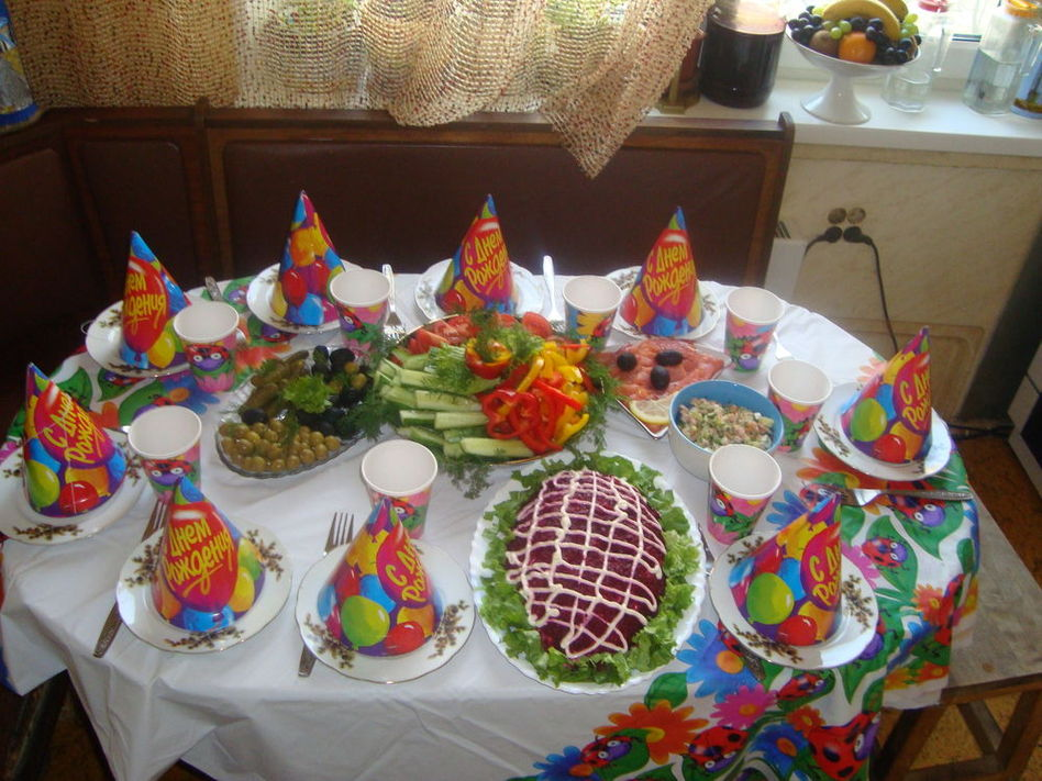 Детский праздник что приготовить на стол